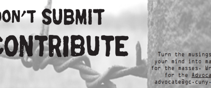 Call for Contributions: The Advocate