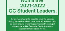 Nominate 2021-22 GC Student Leaders