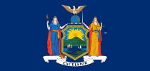 Flag of the State of New York. (Source: Wikimedia Commons)
