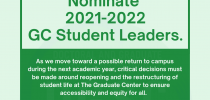 Nominate 2021-22 GC Student Leaders